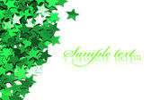 Celebration stars on white background — Stockfoto