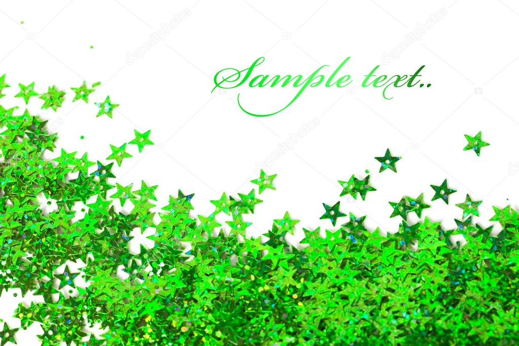 Celebration stars on white background — Stock Photo #5240590