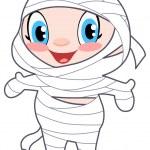 Baby mummy — Stock Vector