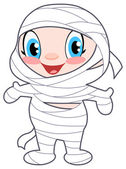 Baby mummy — Stock Vector