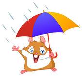 Vintern hamster — Stockvektor