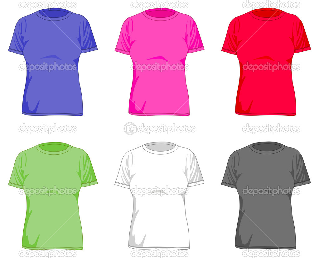 Women's t shirts — Stock Vector #3955233