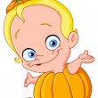 Stock Vector: Baby pumpkin