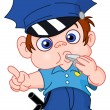 Stock Vector: Young policeman