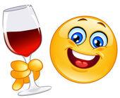 Cheers emoticon — Stock Vector
