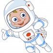 Young astronaut — Stock Vector