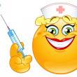Royalty-Free Stock Vector Image: Nurse emoticon