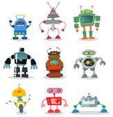 Robotar — Stockvektor