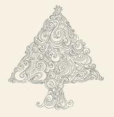 Рождественская елка. — Cтоковый вектор