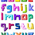 Multicolor small letters — Stock Vector #4158147