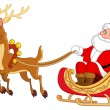 Santa sleigh - Stock Vector