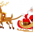 Royalty-Free Stock 矢量图片: Santa sleigh