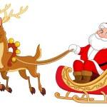 Santa sleigh — Stock Vector #4158192
