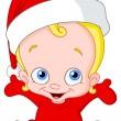 Christmas baby — Stock Vector