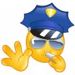 policeman emoticon — Stock Vector