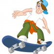 Stock Vector: Skateboard boy