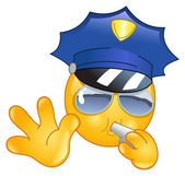 Policeman emoticon — Vecteur