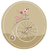 Bicicleta retrô — Vetorial Stock