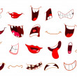 Cartoon mouths - Imagen vectorial