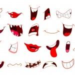 Мультфильм рот — Cтоковый вектор