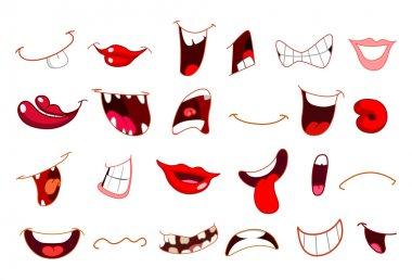 Cartoon mouths