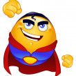 Super hero emoticon - Stock Vector