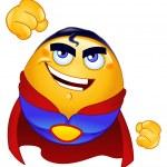 Super hero emoticon — Stock Vector #4430855