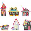 Decorative houses — Stock Vector