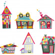 Stock Vector: Decorative houses