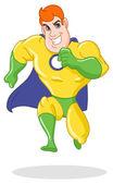 Super hero running — Stock Vector