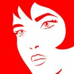 Vector background design of a woman face — Stock Vector