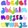 Vector cheerful set of the abc small letters — Stock Vector