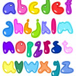 Vector cheerful set of the abc small letters — Stock Vector #4588707