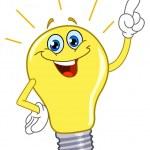 fumetto vettoriale di una lampadina — Vettoriale Stock