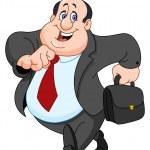 Vector cartoon of a cheerful businessman — Stock Vector #4588712