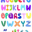 Vector cartoon set of the abc letters - Stok Vektr
