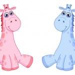 Baby giraffes — Stock Vector #4641031