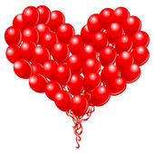 Heart balloons — Vector de stock