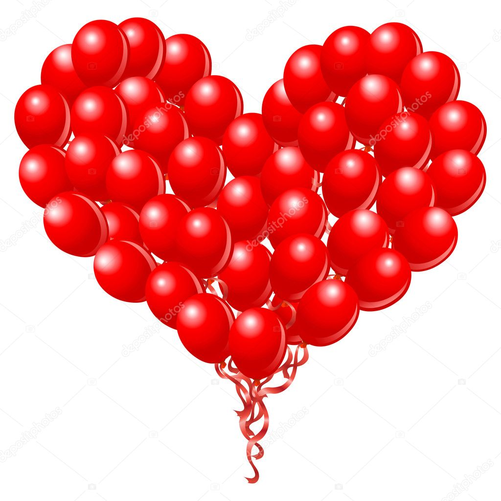 Heart balloons stock vector yayayoyo 4641017 - How to make heart balloon ...