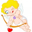 Stock Vector: Little cupid