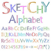 Sketchy alphabet — Stock Vector