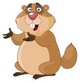 Groundhog — Stock Vector