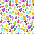 Bubble numbers pattern — Stock Vector