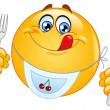 Hungry emoticon - Stock Vector