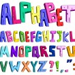 3d cartoon alphabet - Stock Vector