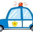 Police car cartoon - Stock Vector