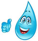 Vatten droppe cartoon — Stockvektor