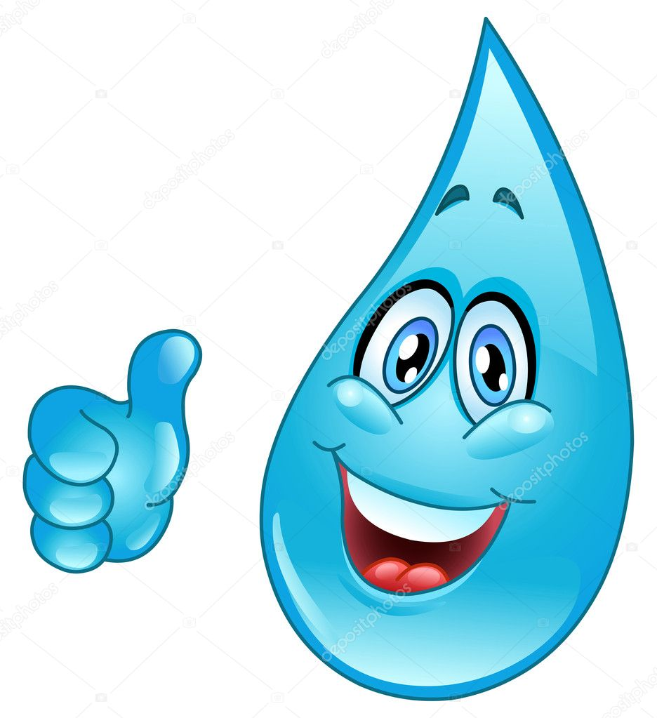 Water drop cartoon — Stock Vector #5080706