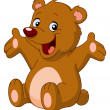 Vector de stock : Happy teddy bear