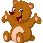 Happy Teddybär — Stockvektor